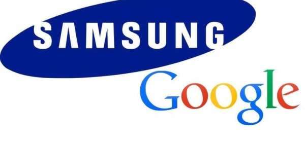 Samsung and Google logos