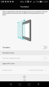 Touchplus - add more functionality to the screen