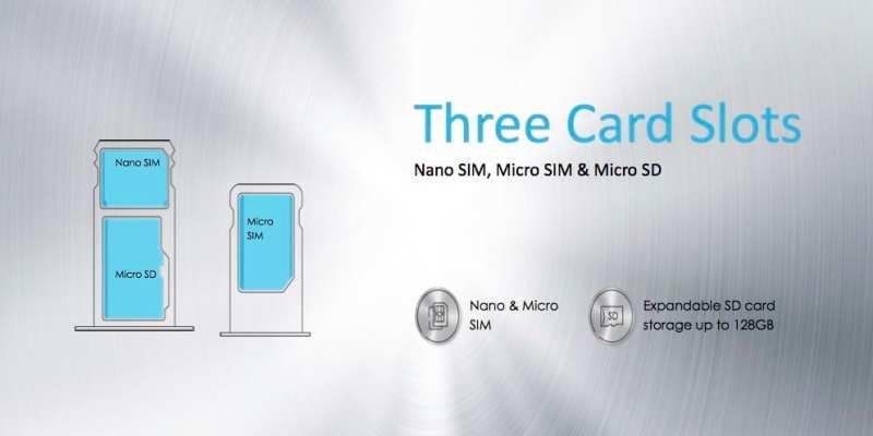 Three card slots
