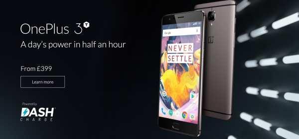 OnePlus 3T homepage capture