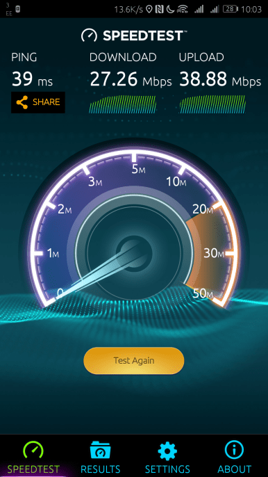 Pretty respectable speed
