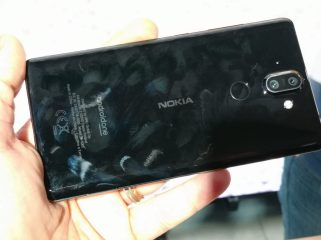 Nokia 8 Sirocco after a matter of seconds
