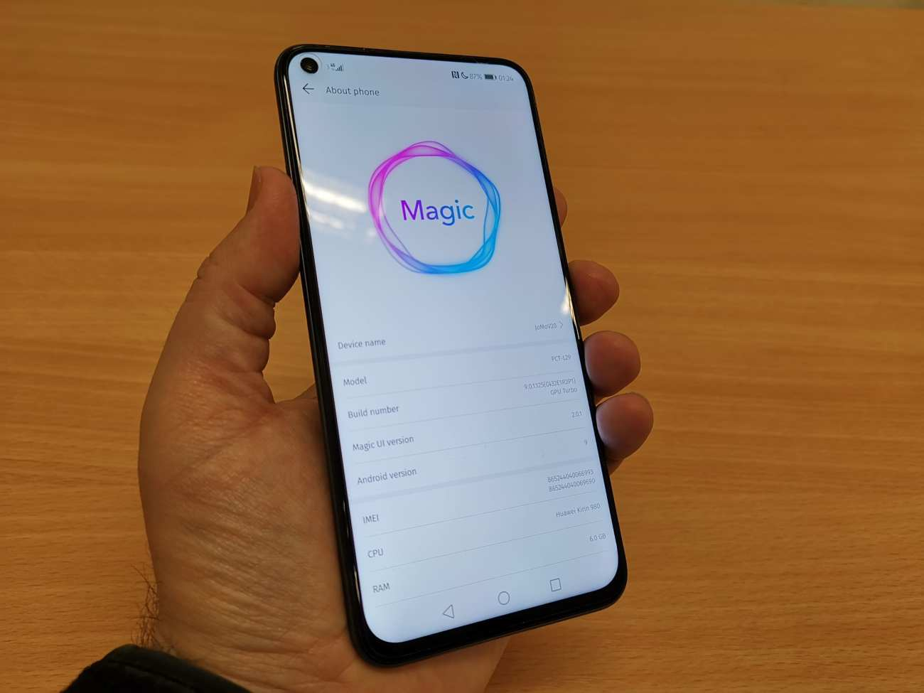 Honor View 20 with Magic UI V2