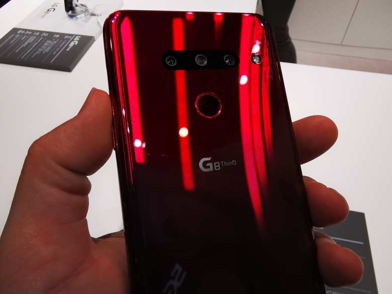 LG G8 back (UK users will get the G8s with an extra camera)