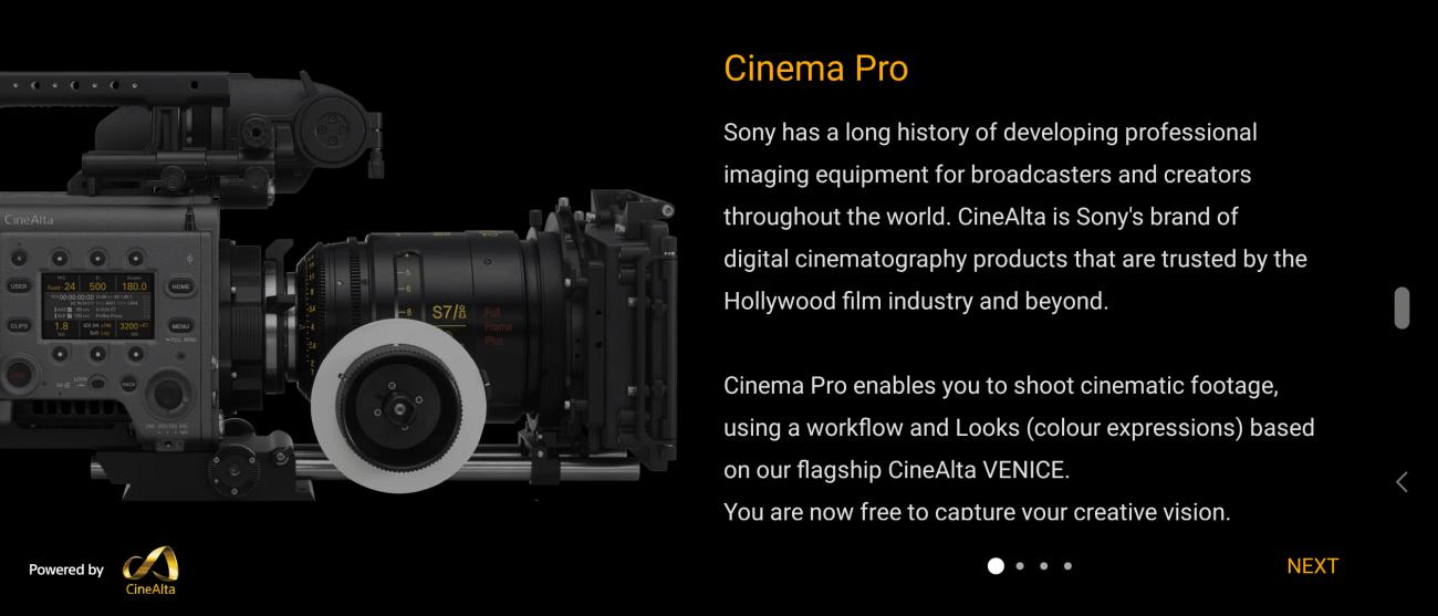 Sony Xperia Cinema Pro