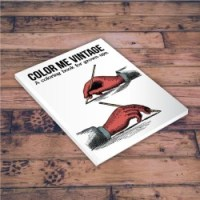 A coloring book for adults - Color Me Vintage!