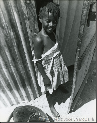 Young Haitian Girl in the La Saline Slum March 1986