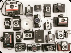 old antique camera collection