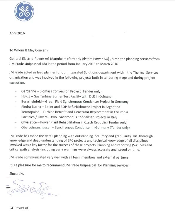 Carta Recomendação Planeamento GE