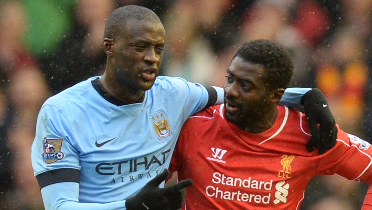 KOLO TOURE when playing with Arsenal against his brother YAYA TOURE playing for Manchester City