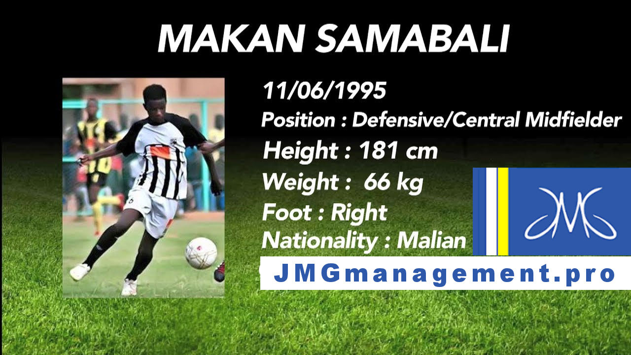 Jmg football management Makan Sambali from Jmg academy Mali