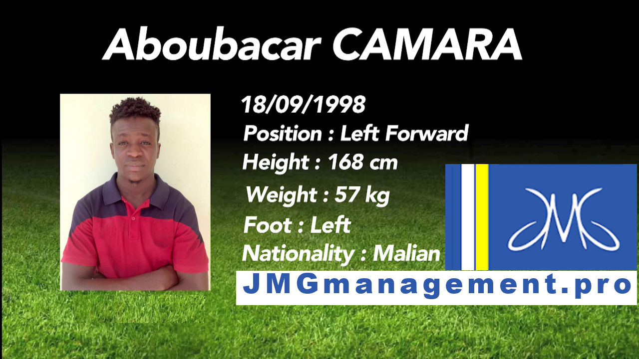 Jmg football management Aboubacar Camara jmg football mali As real bamako