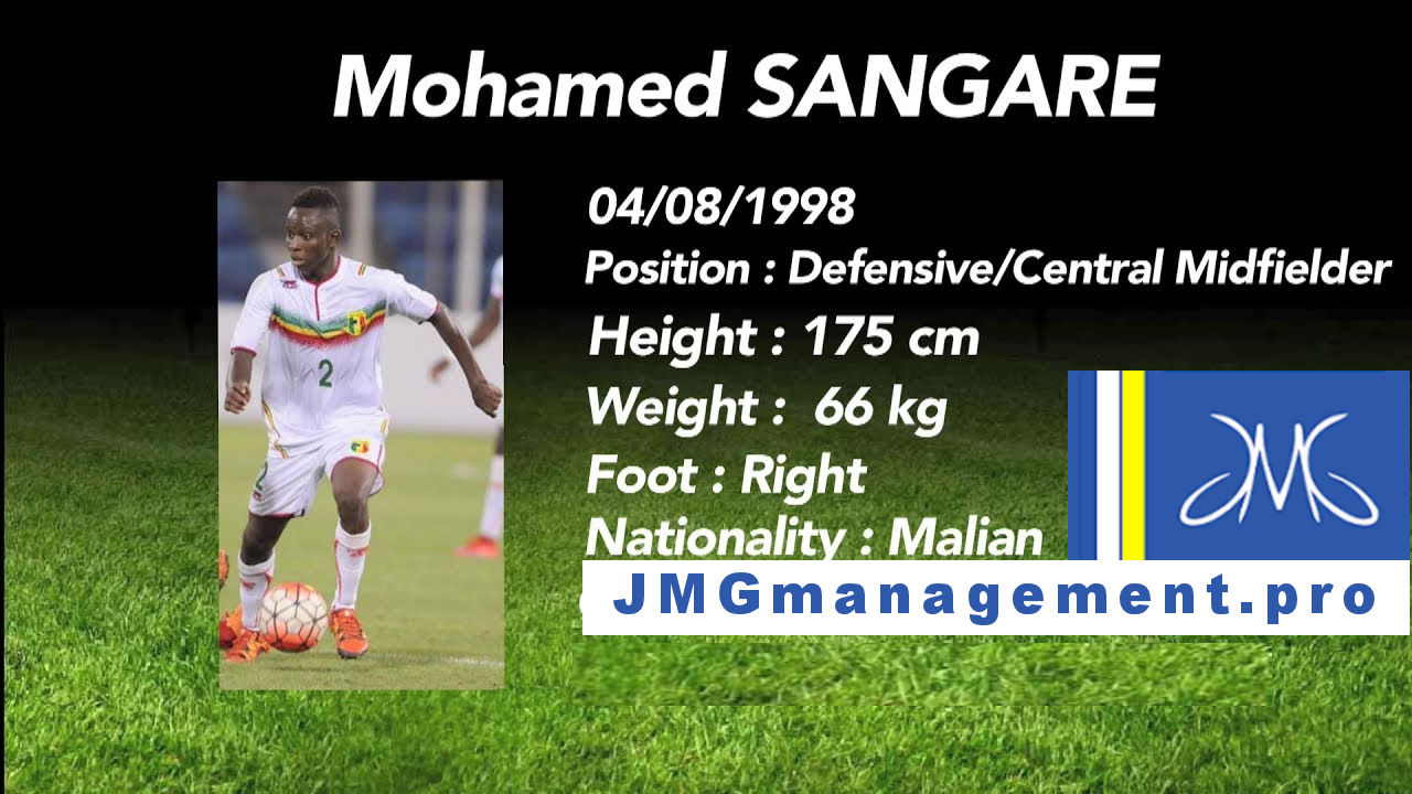 Jmg football management Mohamed Sangare from Jmg academy Mali