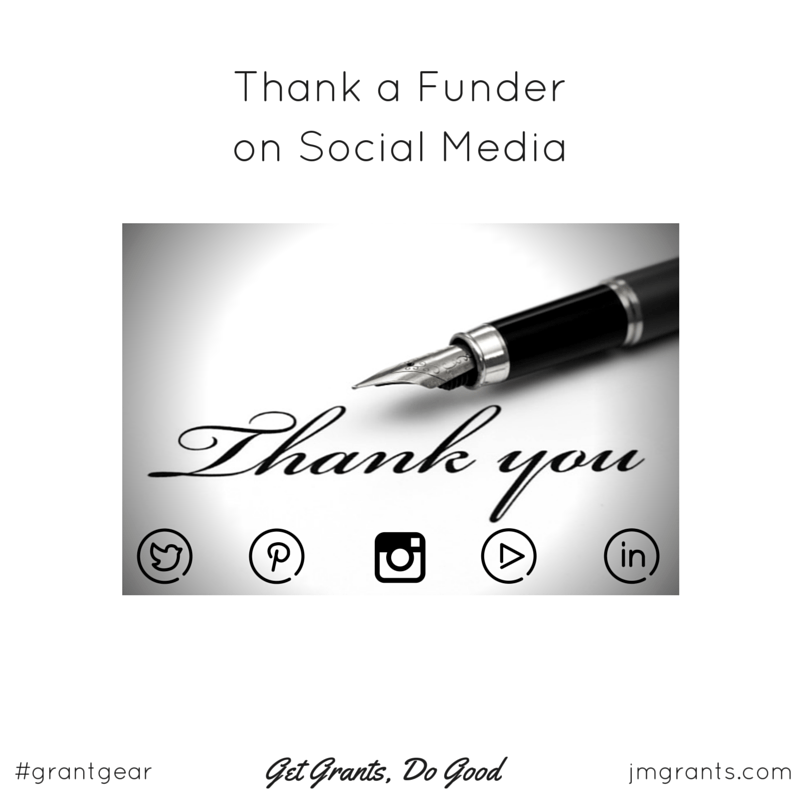 How To Thank A Funder On Social Media