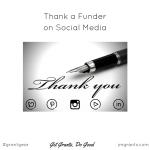 Thank a Funder social media