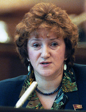 Galina Starovoitova was a human rights leader and lawmaker who was assassinated while investigating Putin-related corruption before he went to Moscow.