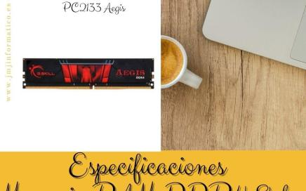 Especificaciones Memoria RAM DDR4 8gb PC2133 Aegis