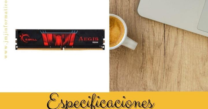 Especificaciones Memoria RAM DDR4 8gb PC2133 Aegis