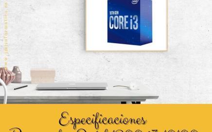 Especificaciones Procesador Intel 1200 i3 10100 4 x 3.6Ghz 6MB