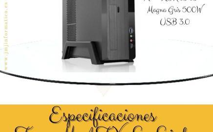 Especificaciones Torre M-ATX L-Link Magna Gris 500W USB 3.0