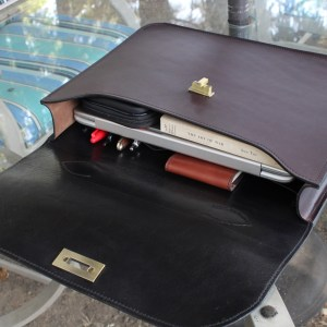 American Made Leather Briefcase