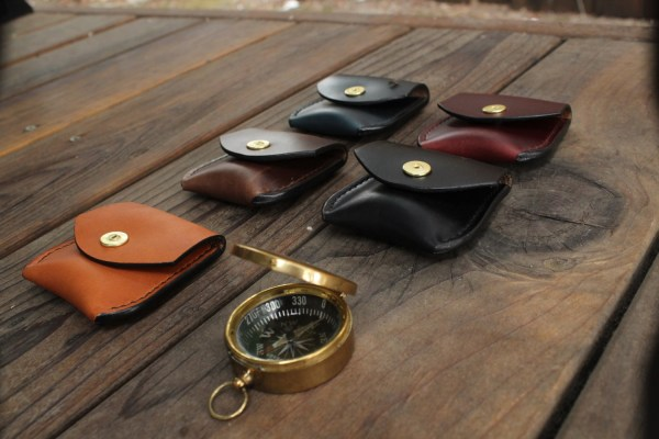 Mens leather coin pouch