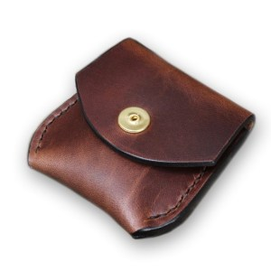 Small leather coin pouch