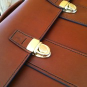 Made in USA leather briefcase