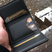 USA made trifold leather wallet
