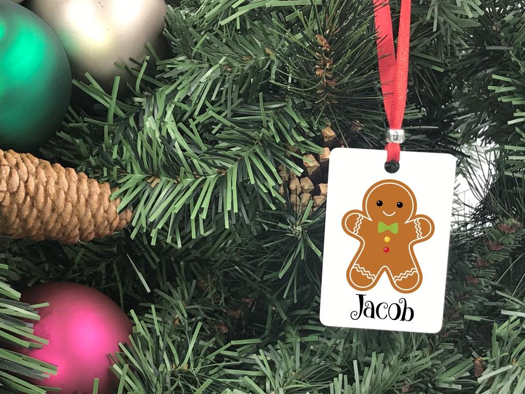 Vertical gingerbread man ornament