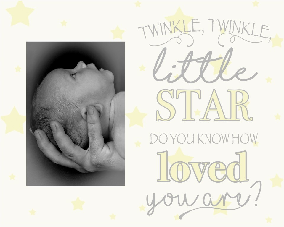 Twinkle Baby Offset Picture Frame