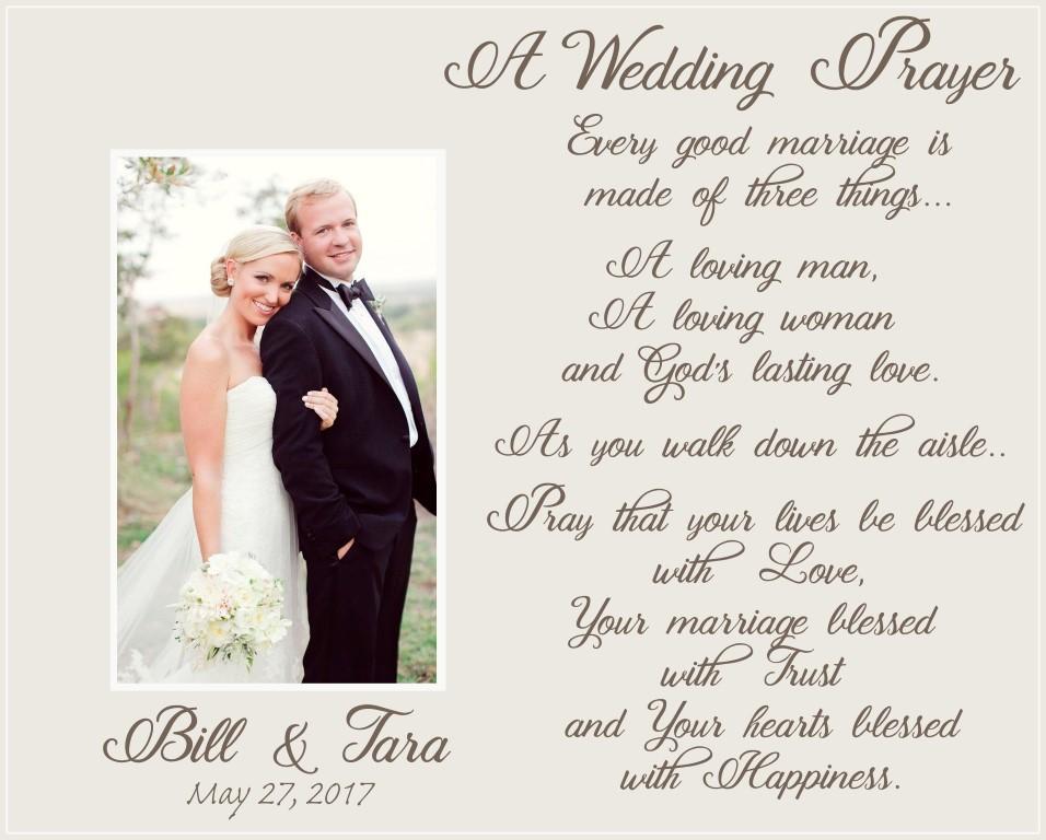 wedding prayer offset picture frame