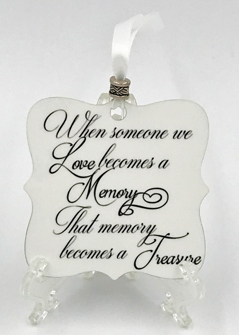 Memory Becomes a Treasure Memorial Ornament – JML Gifts