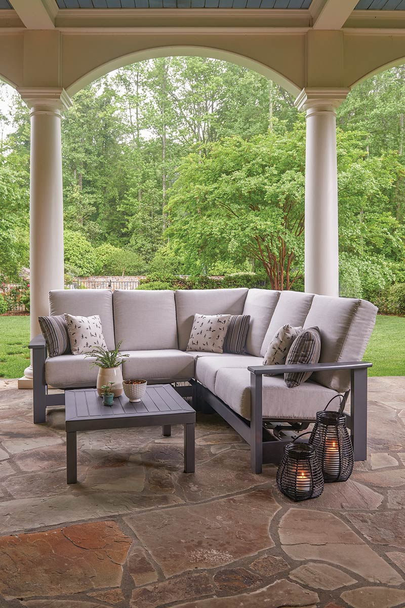 meuble de jardin en resine et polymere leeward cushion