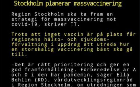 massvaccinerng stockholm corona
