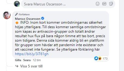 marcus oscarsson enkät vaccin tv4