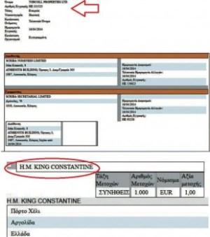 Copia del registro de la empresa Torcoll Properties Ltd y de su único accionista. Foto: Cortesía ProtothemaNews. - Pulsar para ampliar