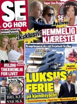 La revista noruega «Se og Hør» destaca las vacaciones de Haakon y Mette-Marit en el yate. (Foto: Portada)