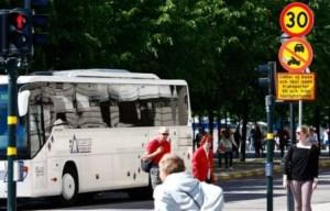 La princesa Magdalena entró con su coche por el sitio reservado para los autobuses (Foto: archivo)