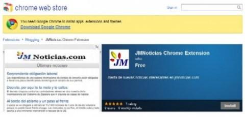 La extensión de Chrome para JM Noticias te permite saber lo último en el mismo momento de su publicación.