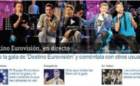 Captura de la página web de TVE donde presentan a los participantes de la primera «gala» eurovisiva. (Foto: Captura de pantalla)