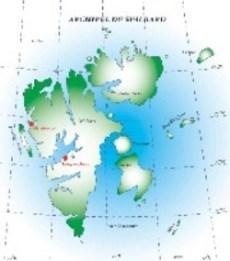 Mapa de la zona protegida del archipiélago de Svalbard, en el Ártico noruego. (Foto: ilustración)