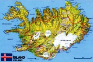 Mapa de Islandia con sus glaciares. (Foto: archivo)
