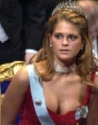 Magdalena de Suecia en la fiesta de entrega de los Premios Nobel en Estocolmo. (Foto: agencias)
