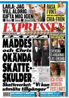 La deudas fiscales de Magdalena de Suecia y su marido Christopher O'Neill llenan la portada del Expressen. (Foto: captura portada)