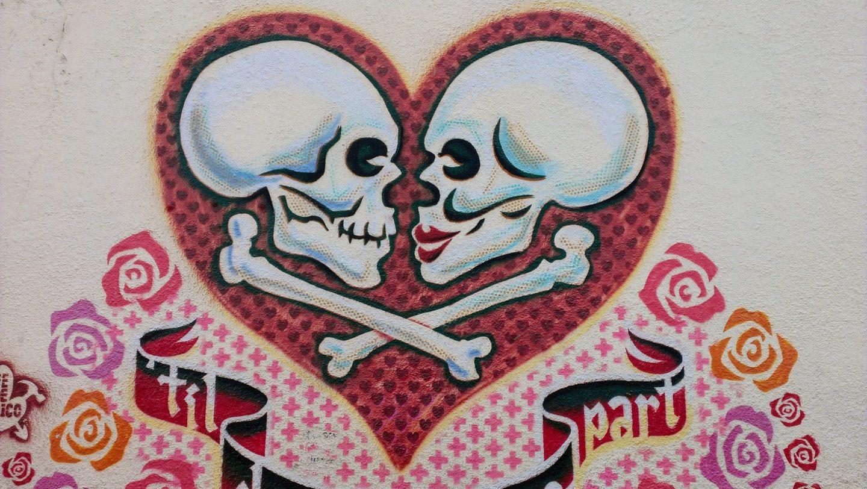 Till Death Do Us Part graffiti art by Federico