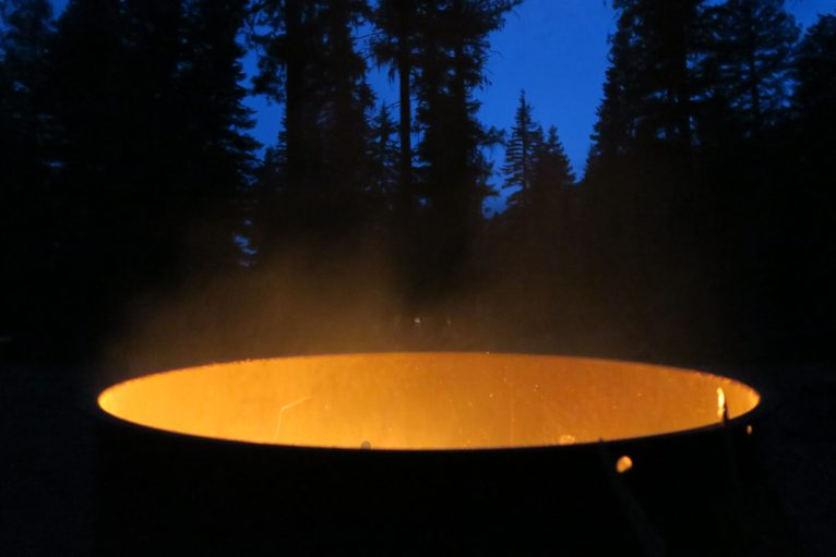 fire ring at the campsite