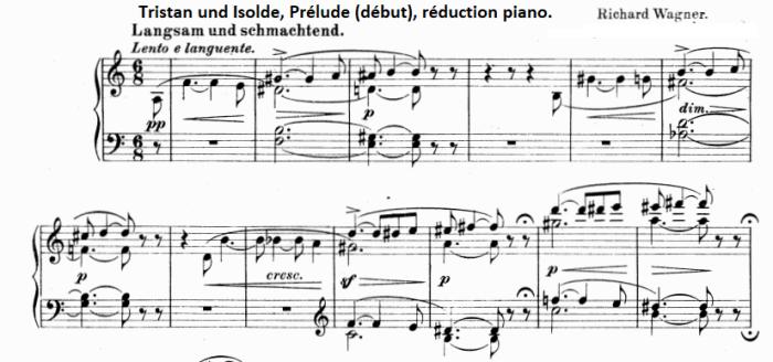 Wagner, Prélude de Trsitan (piano) début