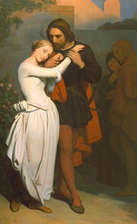 42. Faust et Marguerite dans le jardin par Ary Scheffer 1846