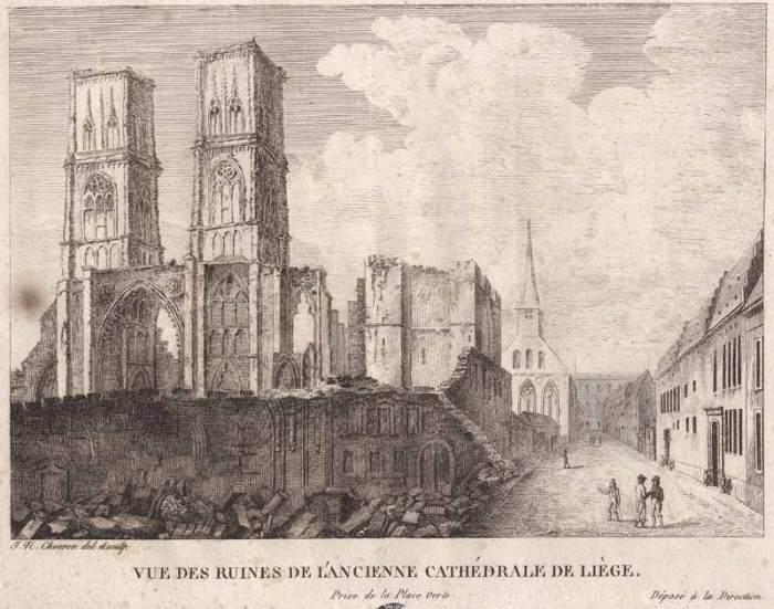 Ruines de l'ancienne Cathédrale de Liège